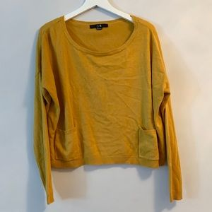 Mustard Sweater w/POCKETS